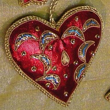Buy Heart Shape Hanging Xmas Decoration