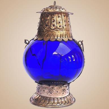 Buy Blue Glass Lantern