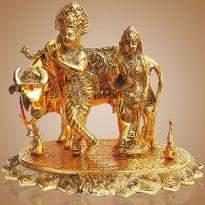 White Metal Radha Krishna