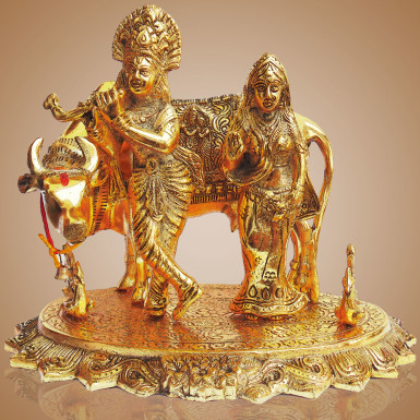 Buy White Metal Radha Krishna