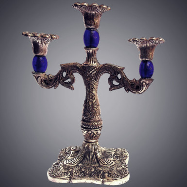 Buy Candle Stand in Blue Color