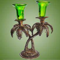Green Color Candle Stand