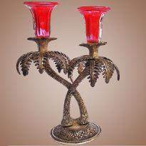 Red Color Candle Stand