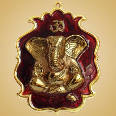 Buy White Metal Wall Hanging  Lotus Ganesha