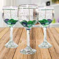 Beautiful Wine Glass Candles