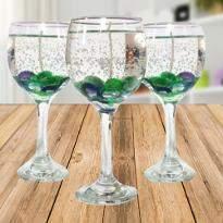 Beautiful Wine Glass Candles