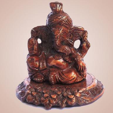 Buy White Metal Copper Color Ganesha