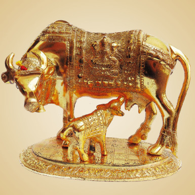 Buy White Metal Cow with Calf