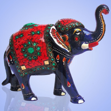 Buy Elephant with Red Chip Work