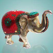 Elephant with Stone Work