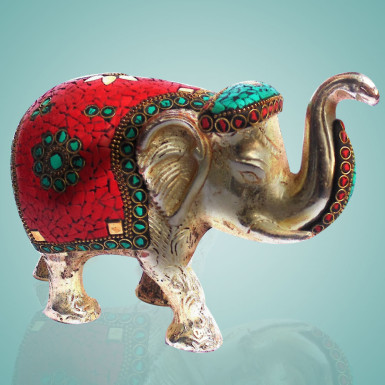 Buy Elephant with Stone Work