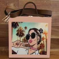Girl Print Handbag