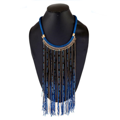 Buy Shiny Blue Beads Necklace