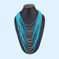 Beautiful Blue String Necklace