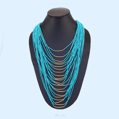 Buy Beautiful Blue String Necklace