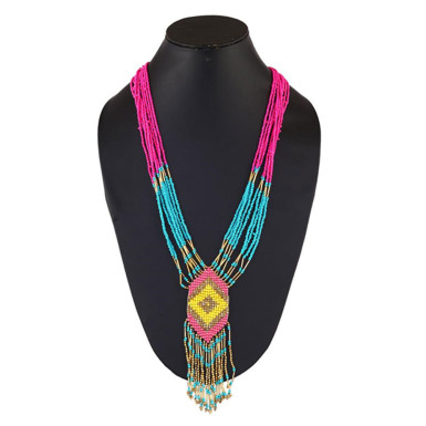 Buy Pink and Blue Necklace