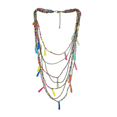 Buy Fashionable Multi Color Necklace