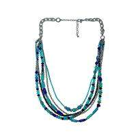 Blue and Sky Blue Pearl Necklace