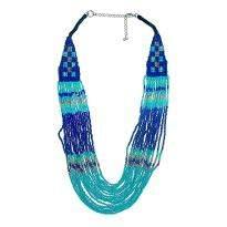 Sky Blue Beaded Necklace