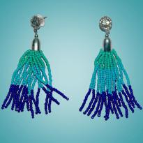 Elegant Blue Earring