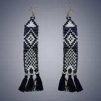 Black and White Earring