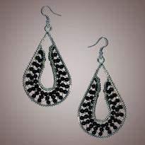 Stylish Silver Black  Earring
