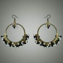Black and White Jhumka