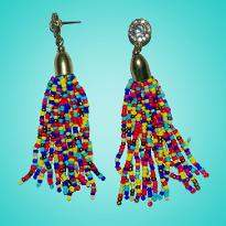 Multi Color Seed Bead Earring