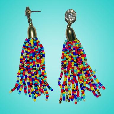 Buy Multi Color Seed Bead Earring