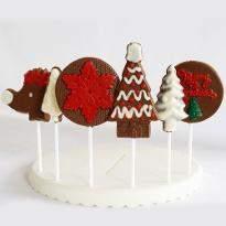 Assortment of Christmas Chocolate Lollipops