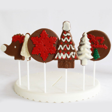 Buy Big Assortment of Christmas Chocolate Lollipops
