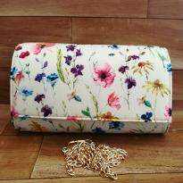 Beautiful Flower Print Clutch