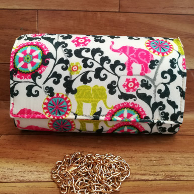 Buy Baby Elephant Print Clutch