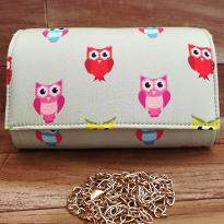 Colorful Birds Printed Clutch