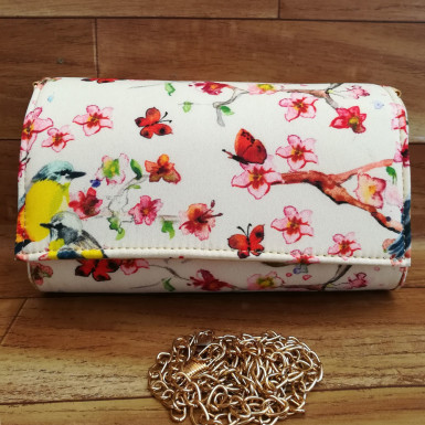 Buy Birds and Flowers Print Clutch