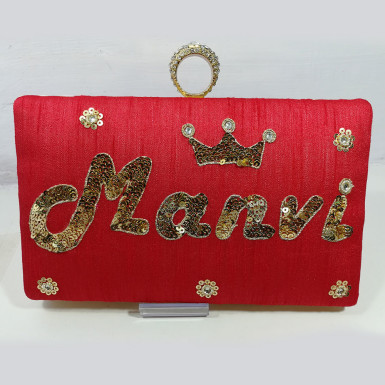 Buy Printed Name Clutch