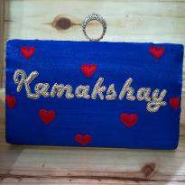 Red Heart Customized Clutch