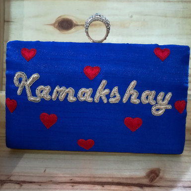 Buy Red Heart Customized Clutch