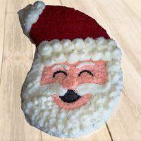 Happy Santa Claus Cream Cake