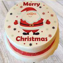 Merry Christmas photo cake