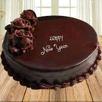 New Year Plain Chocolate Cake