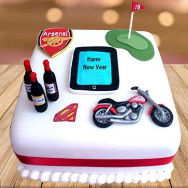 Buy New year Fondant Cake