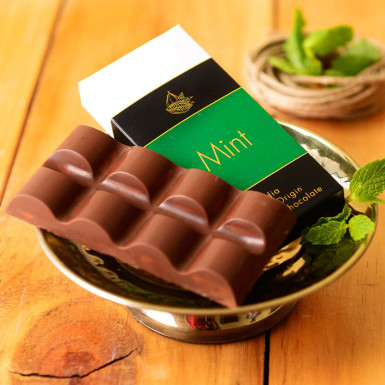 Buy Artisanal Mint Milk Chocolate Bar Set of 2