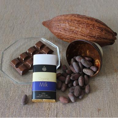 Buy Artisanal Organic Milk Chocolate Bar Set of 2