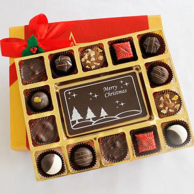 Buy Merry Christmas Cheer with Luxury Chocolate Truffles