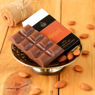 Buy Artisanal Almond Milk Chocolate Bar Set of 2