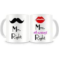 Mr and Mrs Right Mug