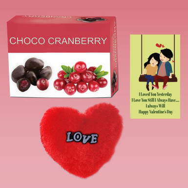 Buy Choco Cranberry with Heart