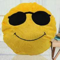 Cool Dude Smiley Cushion