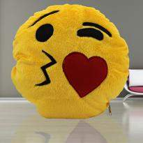 Kissing Smiley Cushion